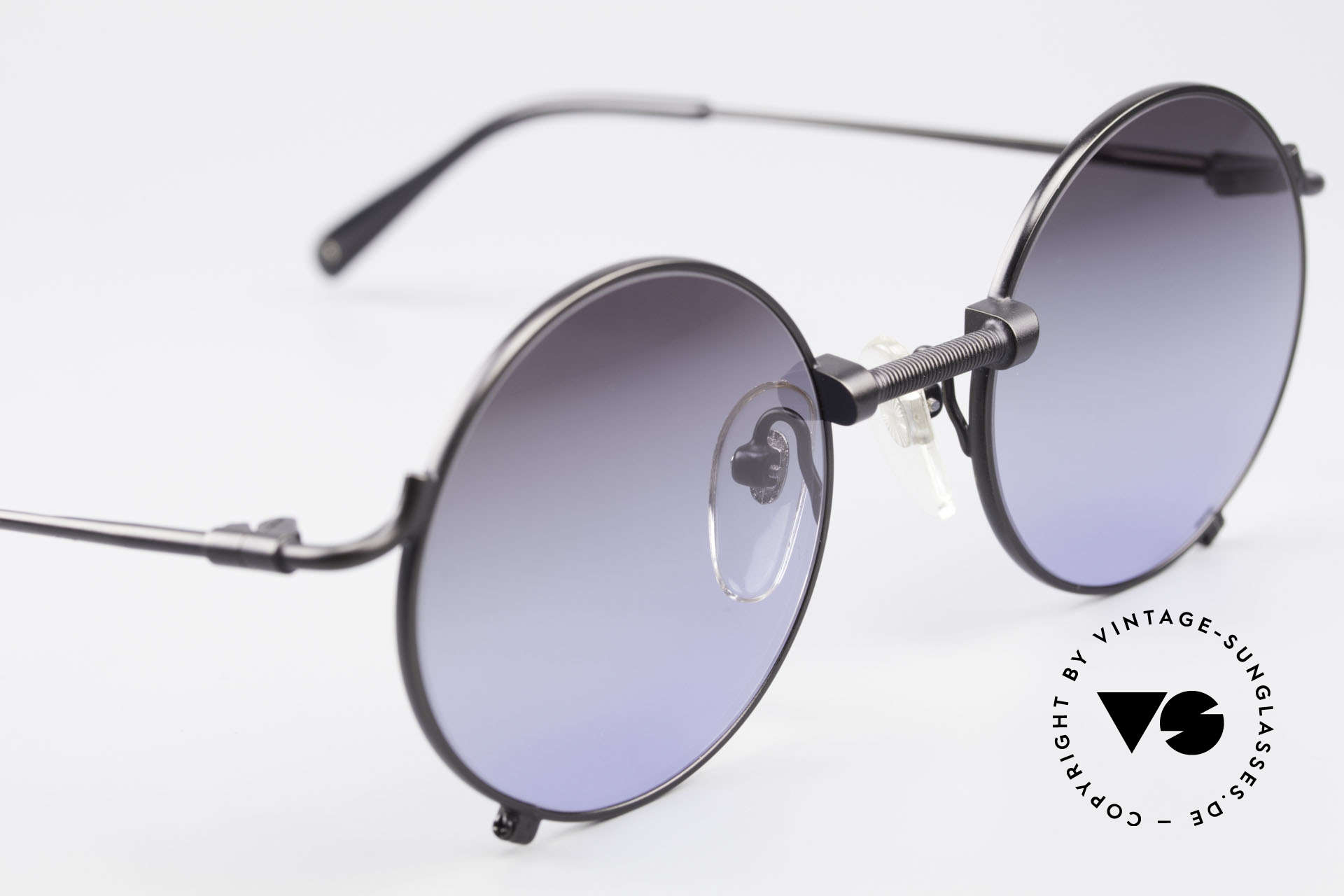 Jean Paul Gaultier 55-7162 Round Vintage Sunglasses, NO retro fashion, but a rare authentic original, Made for Men and Women