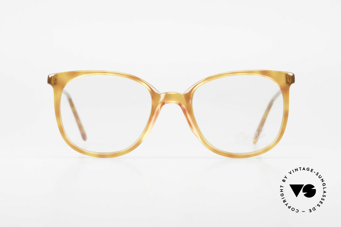 Persol 09181 Ratti Old Vintage Eyeglasses 80's, delicate temples; timeless piece in light tortoise, Made for Men and Women