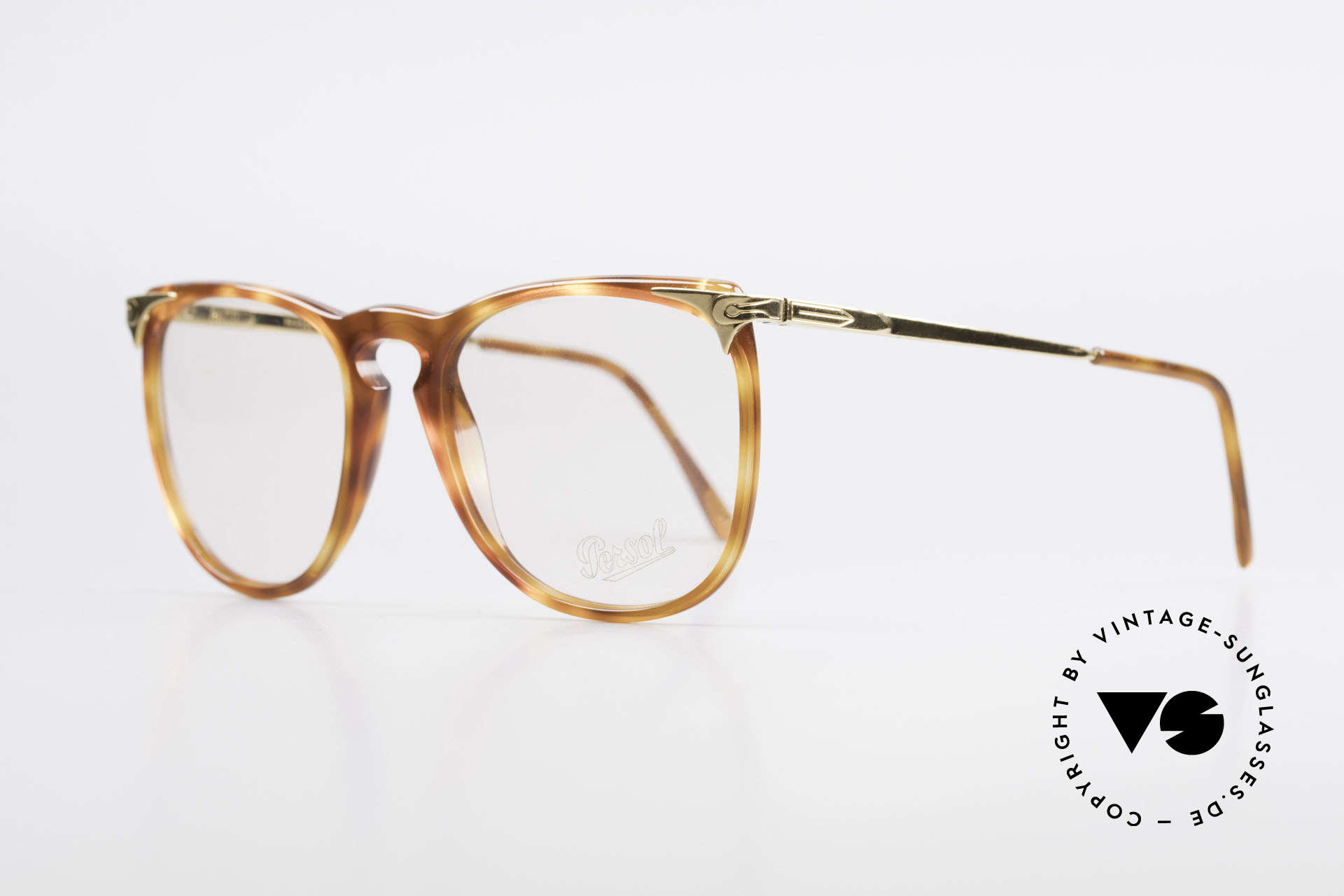 Persol Cellor 3 Ratti Old Vintage Eyeglasses 80's, very rare model; GOLD-PLATED metal parts, Made for Men and Women