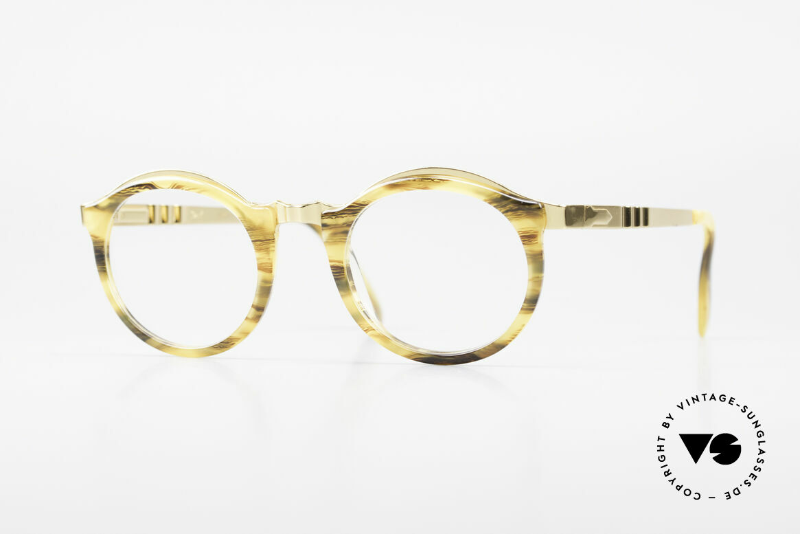 Persol Ivy Gold Plated Panto Glasses, classic Persol Ratti vintage glasses of the 90's, Made for Men and Women