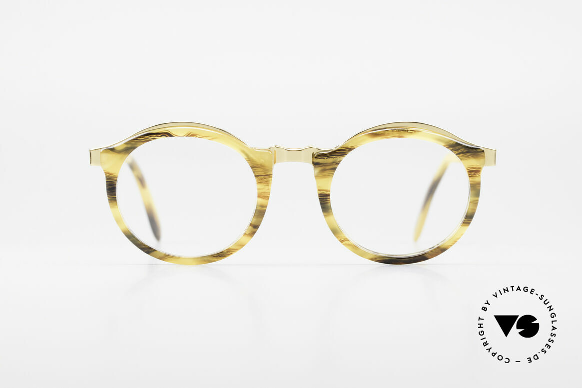 Persol Ivy Gold Plated Panto Glasses, perfect fit and comfort thanks to spring hinges, Made for Men and Women