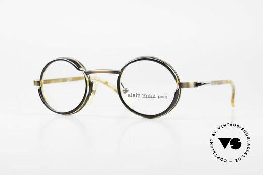 Alain Mikli 2150 / 38025 Round Vintage Designer Frame Details