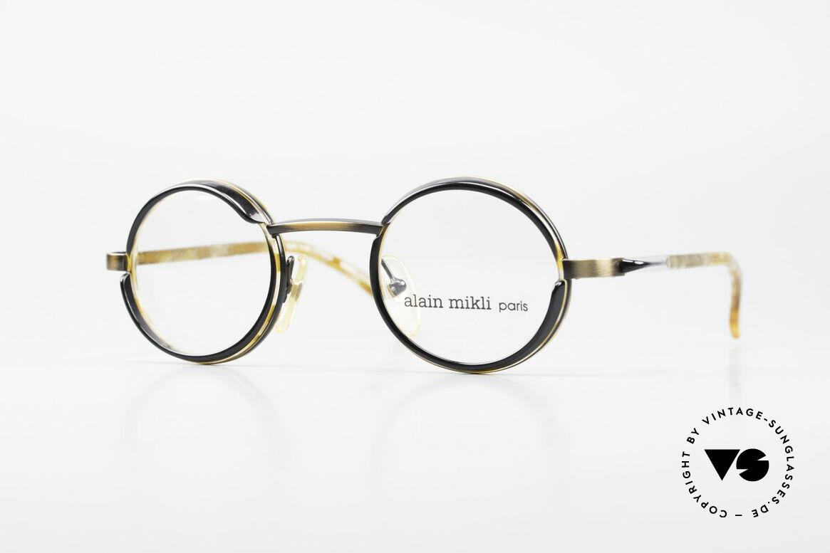 Alain Mikli 2150 / 38025 Round Vintage Designer Frame, delightful vintage designer eyeglasses by Alain Mikli, Made for Men and Women