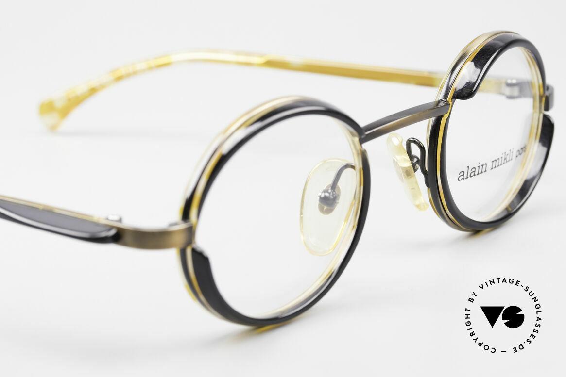 Alain Mikli 2150 / 38025 Round Vintage Designer Frame, unworn rarity (like all our vintage Alain Mikli eyewear), Made for Men and Women