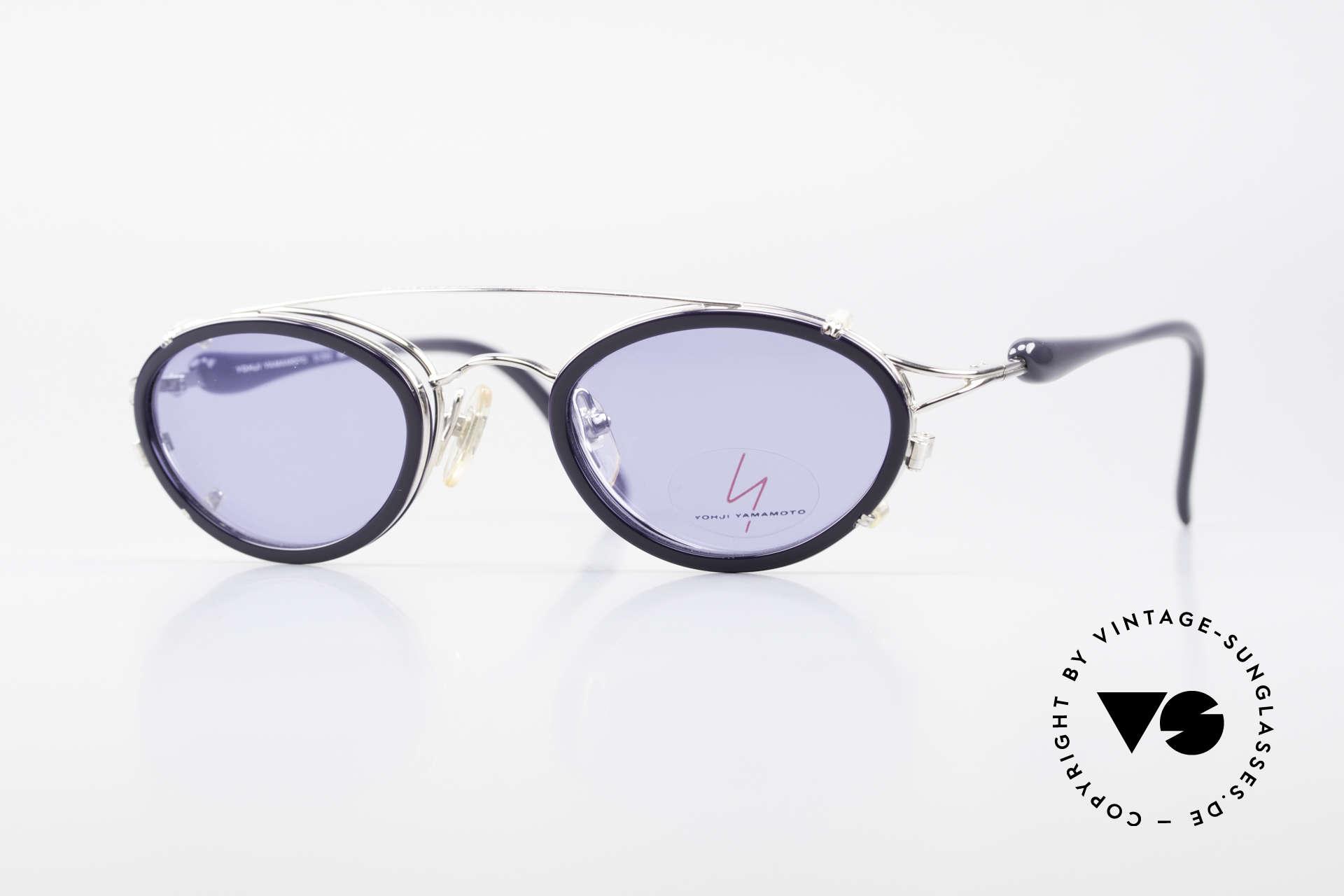 Yohji Yamamoto 51-7210 Clip-On 90's No Retro Shades, vintage 1990's sunglasses by Yohji Yamamoto, Japan, Made for Men and Women