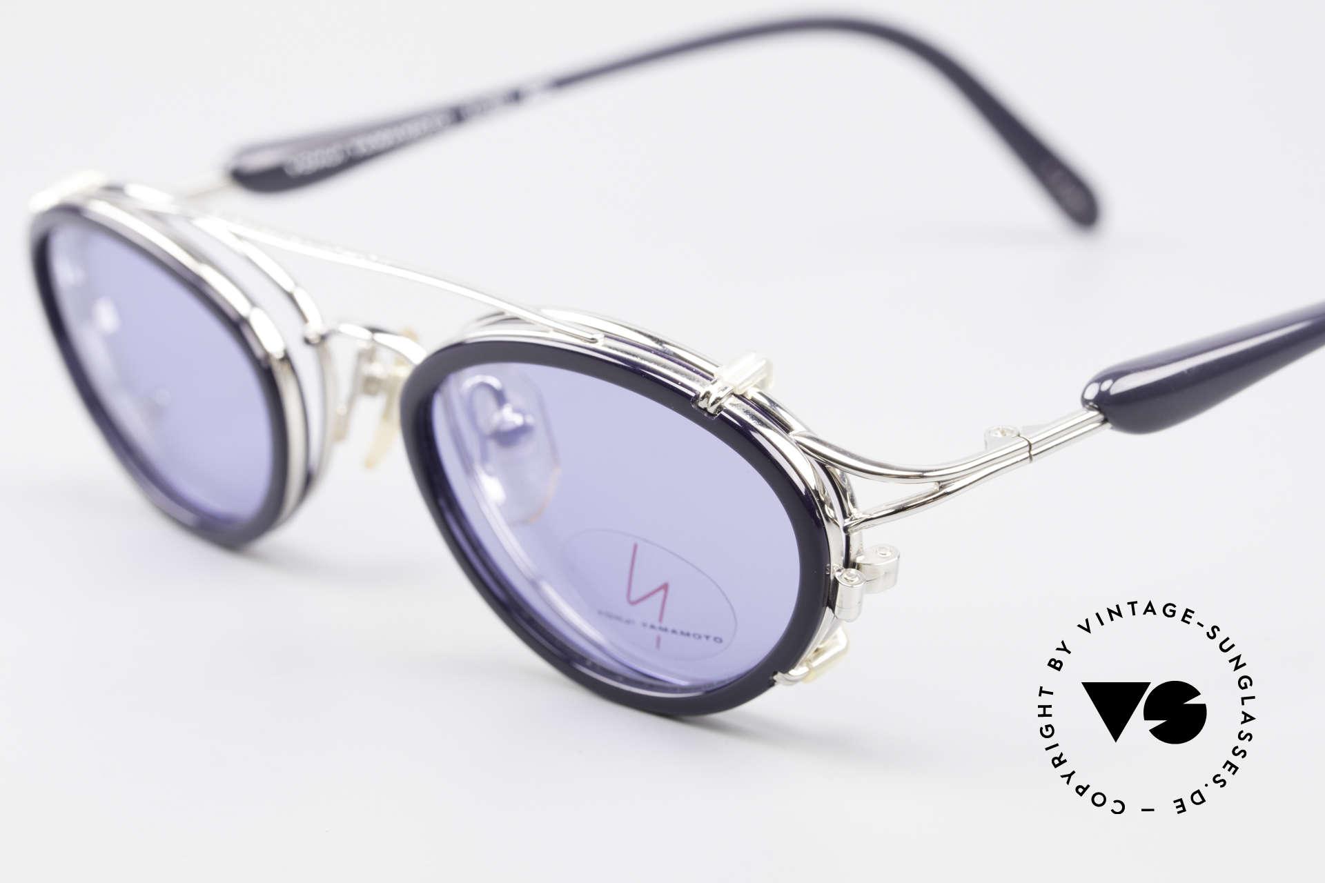 Yohji Yamamoto 51-7210 Clip-On 90's No Retro Shades, unused (like all our Haute Couture designer glasses), Made for Men and Women