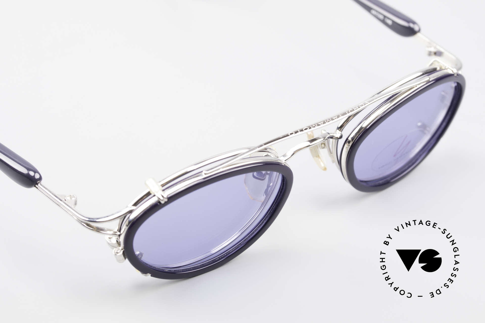 Yohji Yamamoto 51-7210 Clip-On 90's No Retro Shades, frame can be glazed with optical lenses of any kind, Made for Men and Women