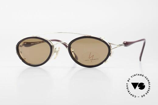 Yohji Yamamoto 51-7210 Clip-On 90's No Retro Frame Details