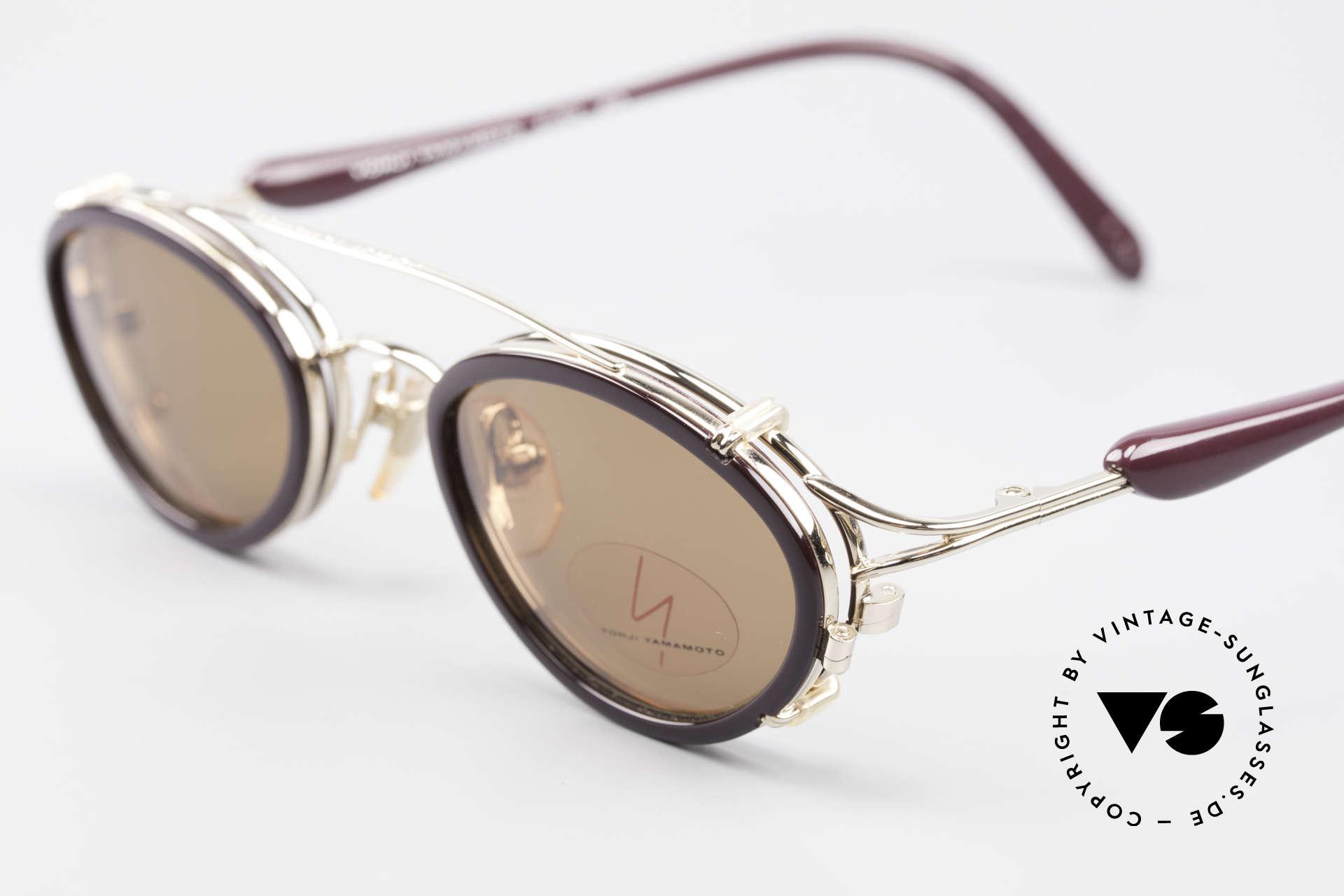 Yohji Yamamoto 51-7210 Clip-On 90's No Retro Frame, unused (like all our Haute Couture designer glasses), Made for Men and Women