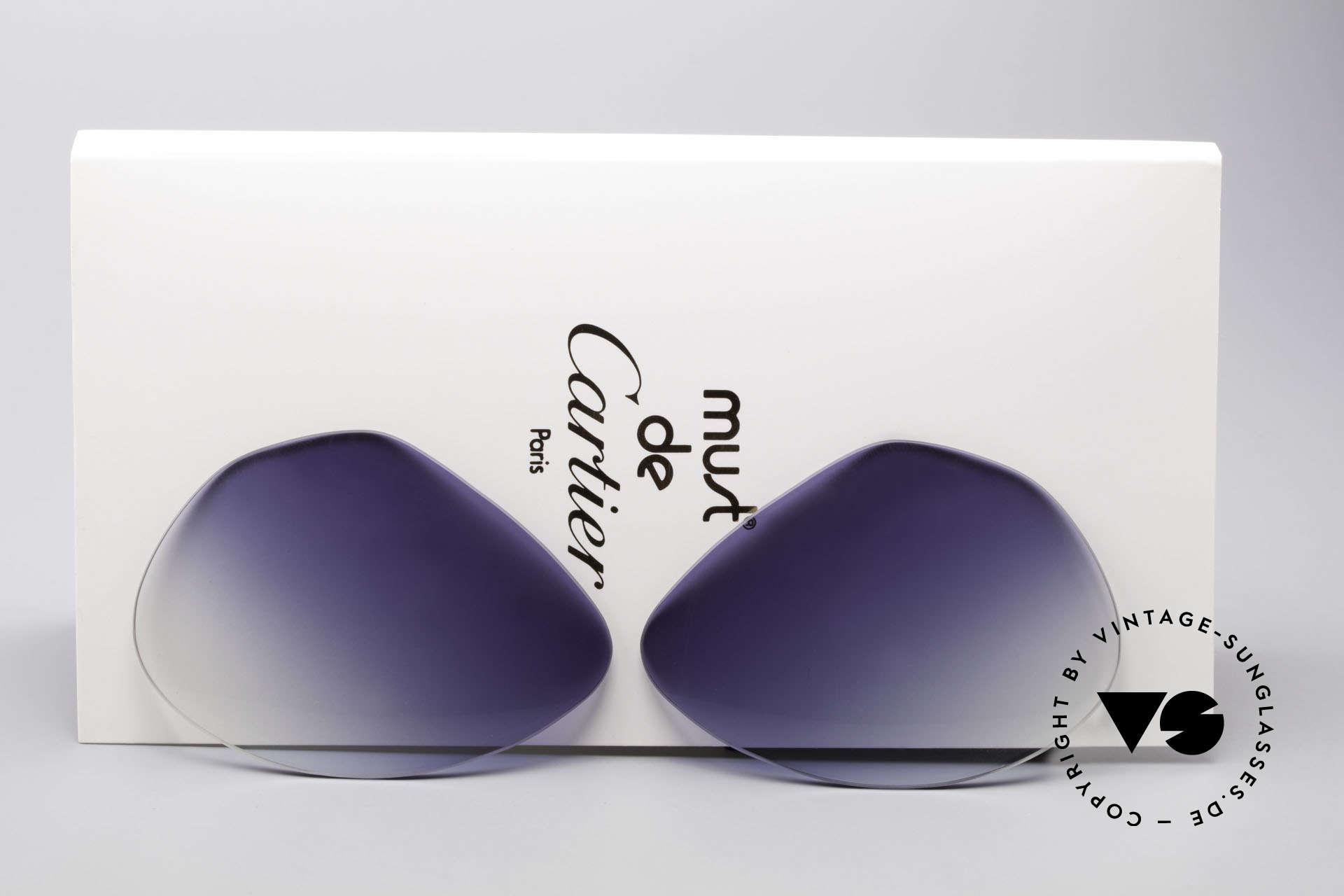 Cartier Vendome Lenses - L Blue Gradient Sun Lenses, replacement lenses for Cartier mod. Vendome 62mm size, Made for Men