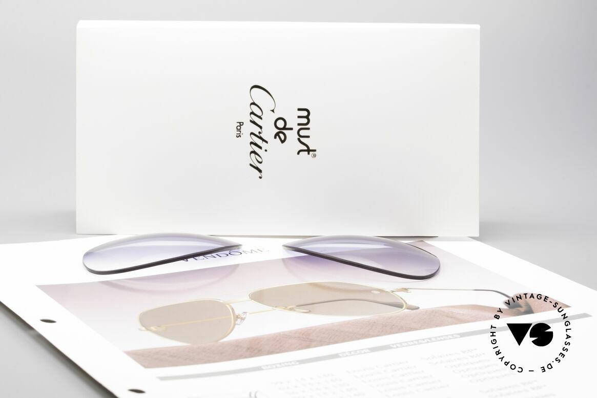 Cartier Vendome Lenses - L Blue Gradient Sun Lenses