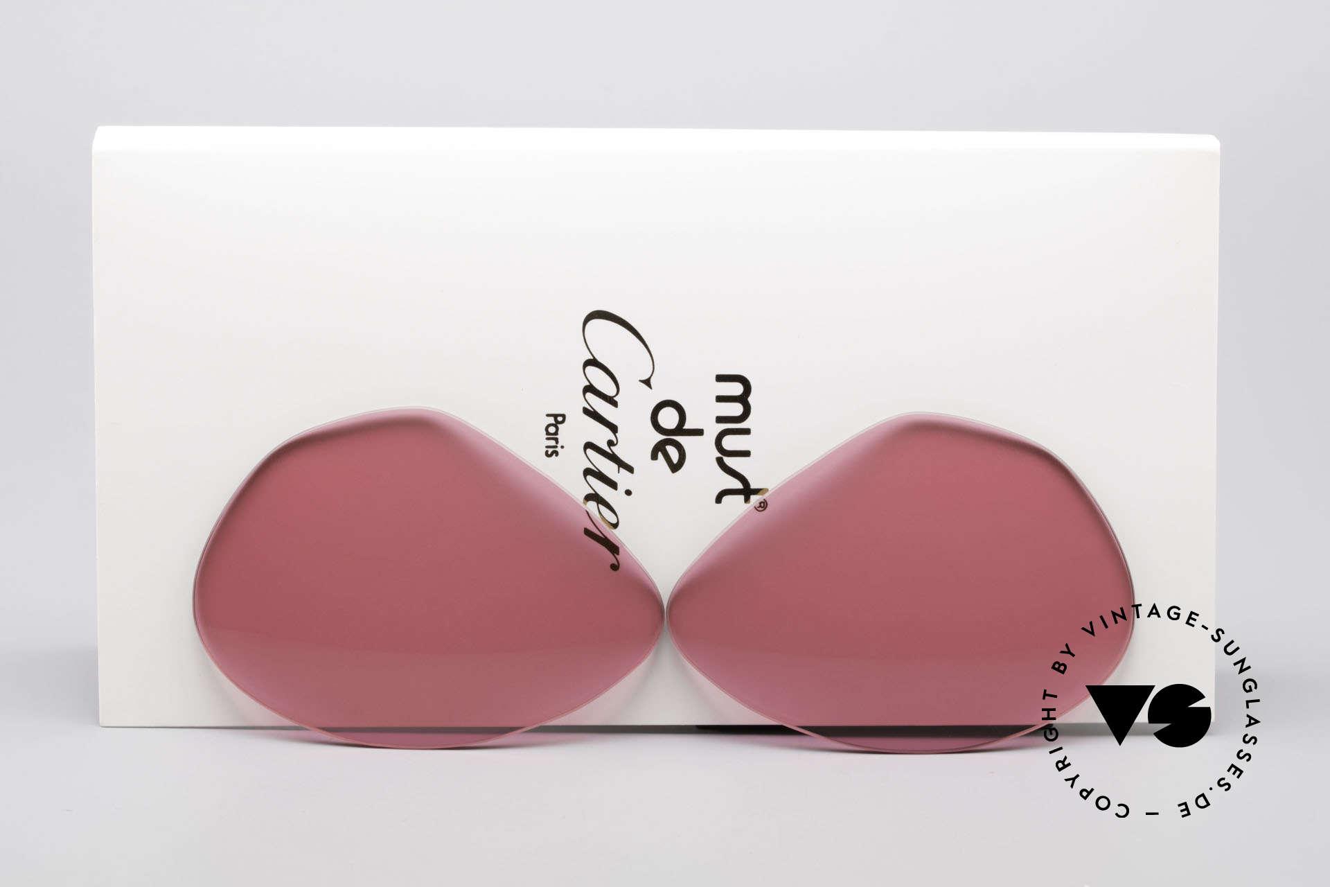 Cartier Vendome Lenses - L Pink Sun Lenses, replacement lenses for Cartier mod. Vendome 62mm size, Made for Men