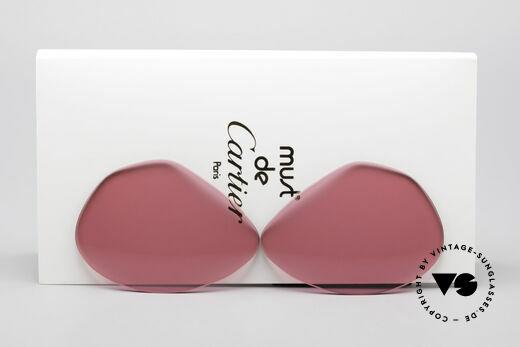 Cartier Vendome Lenses - L Pink Sun Lenses Details