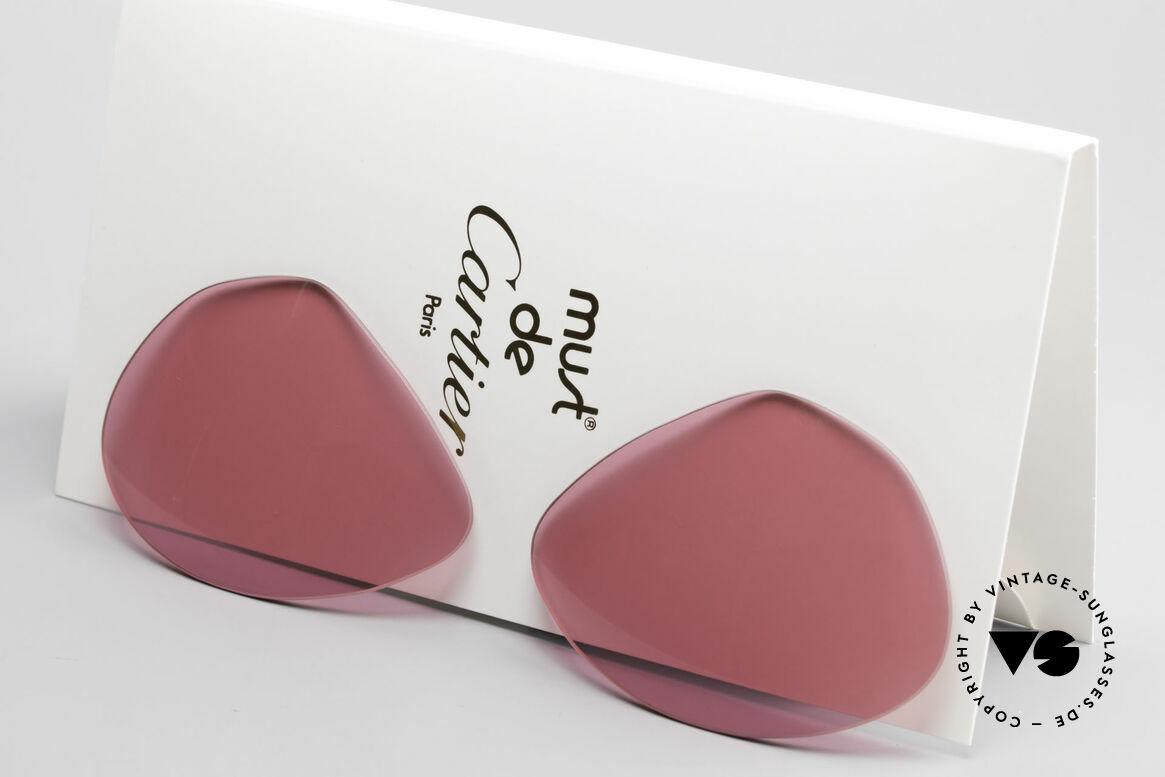 Cartier Vendome Lenses - L Pink Sun Lenses, new CR39 UV400 plastic lenses (for 100% UV protection), Made for Men