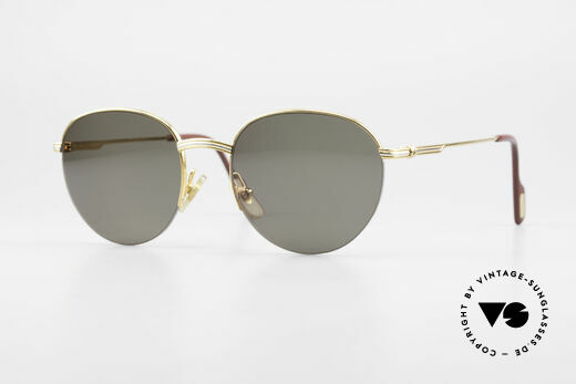 Cartier Colisee Round Luxury Sunglasses Details