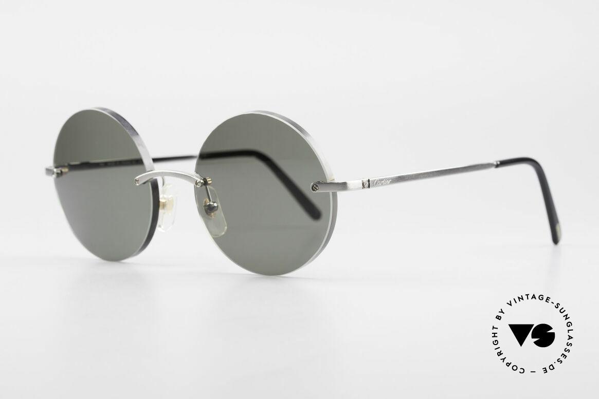 Cartier T-Eye Madison Round Luxury Sunglasses