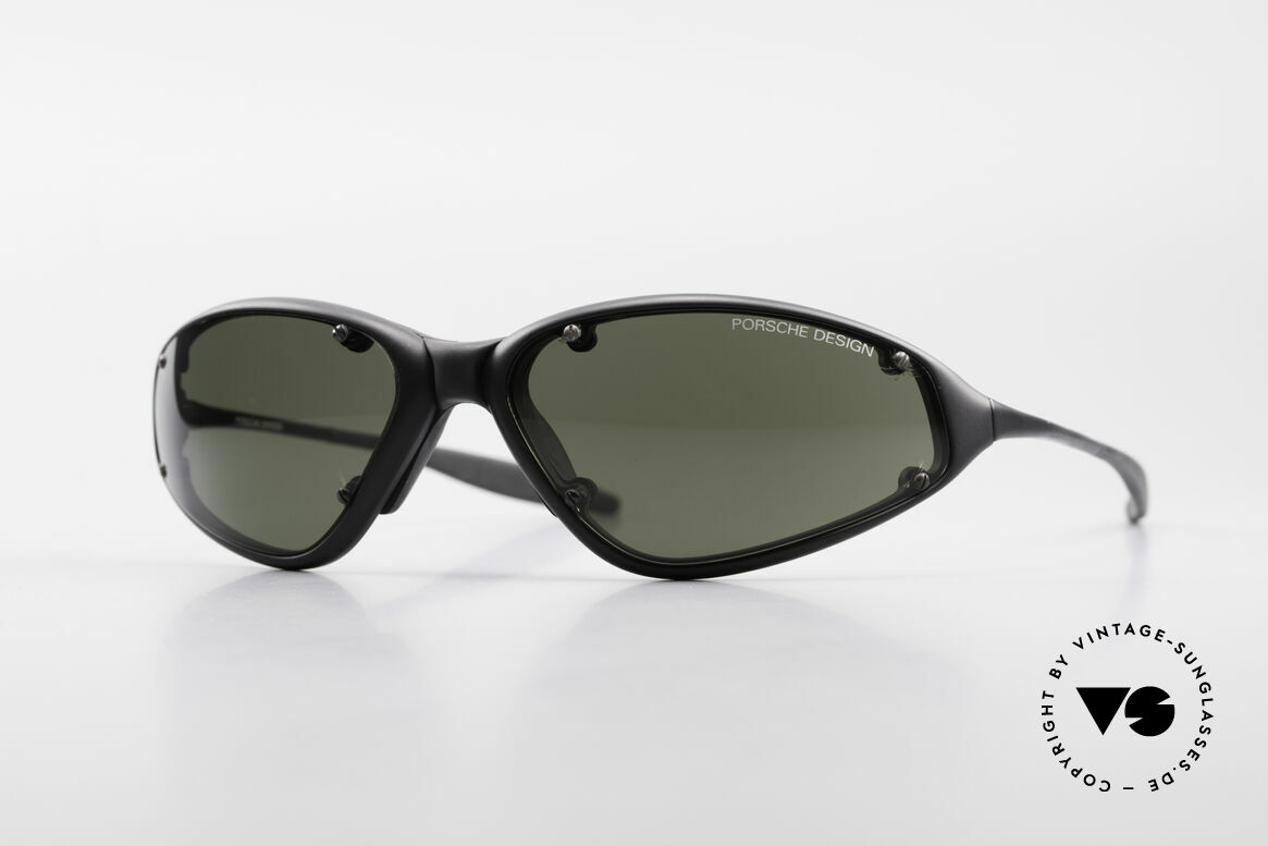 Porsche P0120 Rare 90's Sports Sunglasses, old 1990's PORSCHE Design P0120 sunglasses, Made for Men
