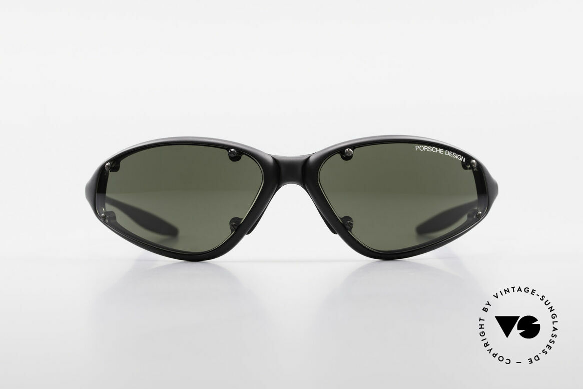 Porsche P0120 Rare 90's Sports Sunglasses, sporty frame with polycarbonate sun lenses, Made for Men