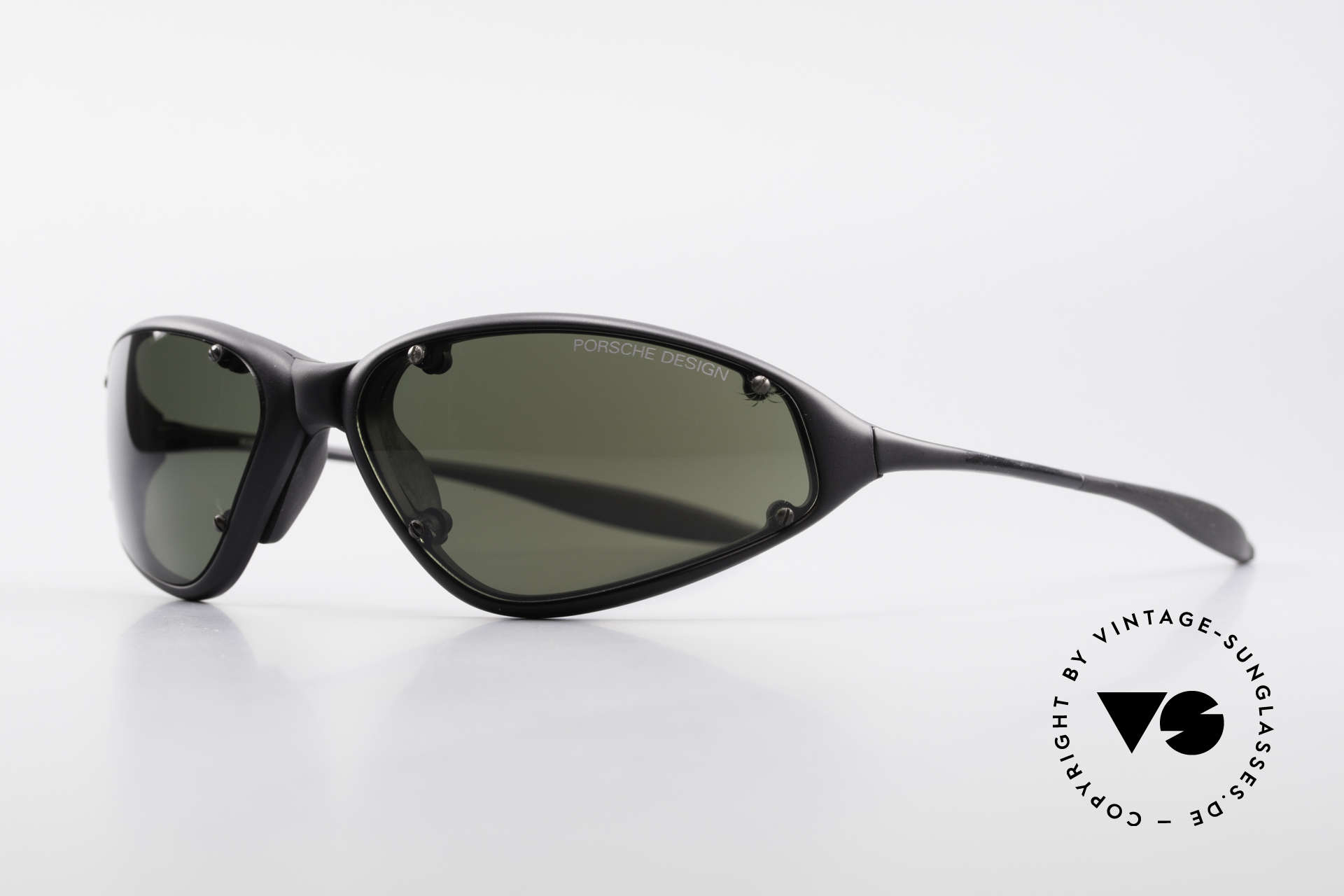 Porsche P0120 Rare 90's Sports Sunglasses, wrap around sunglass' design from app. 1998, Made for Men