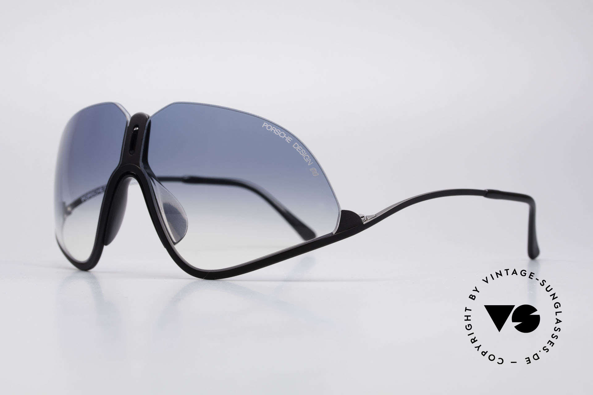 Porsche 5630 90's Designer Sports Shades, upper frame edge without boundary (see the skyline), Made for Men