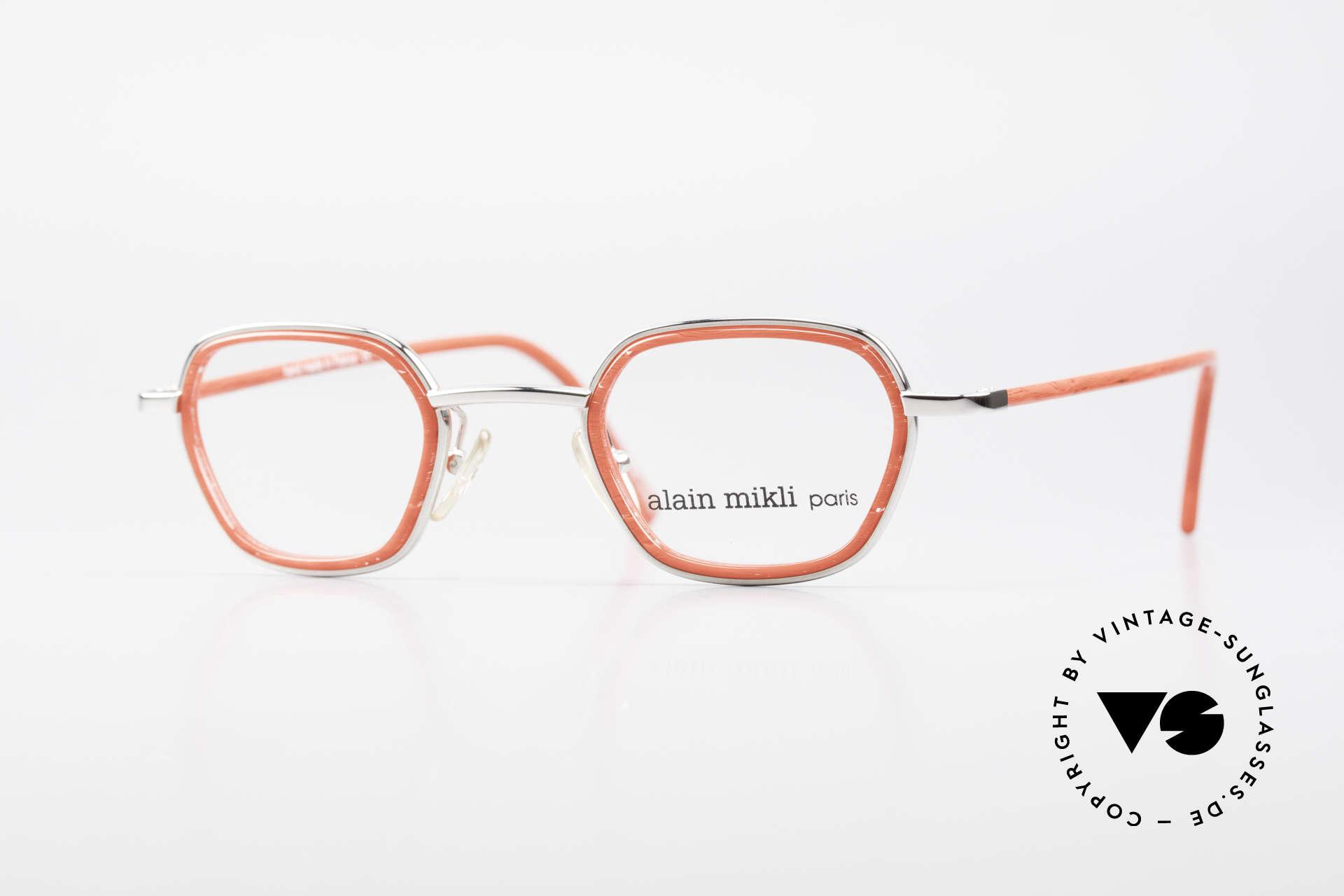 Alain Mikli 1642 / 1006 Vintage Eyeglasses Mikli Red, original Alain MIKLI designer eyeglasses of the 90's, Made for Women