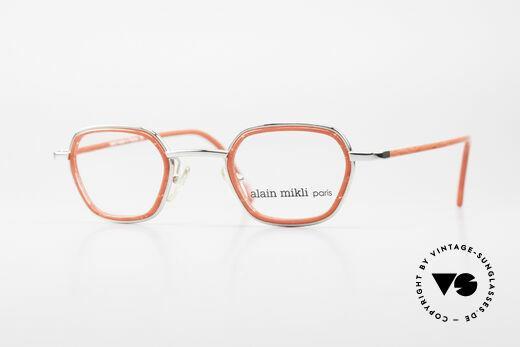 Alain Mikli 1642 / 1006 Vintage Eyeglasses Mikli Red Details