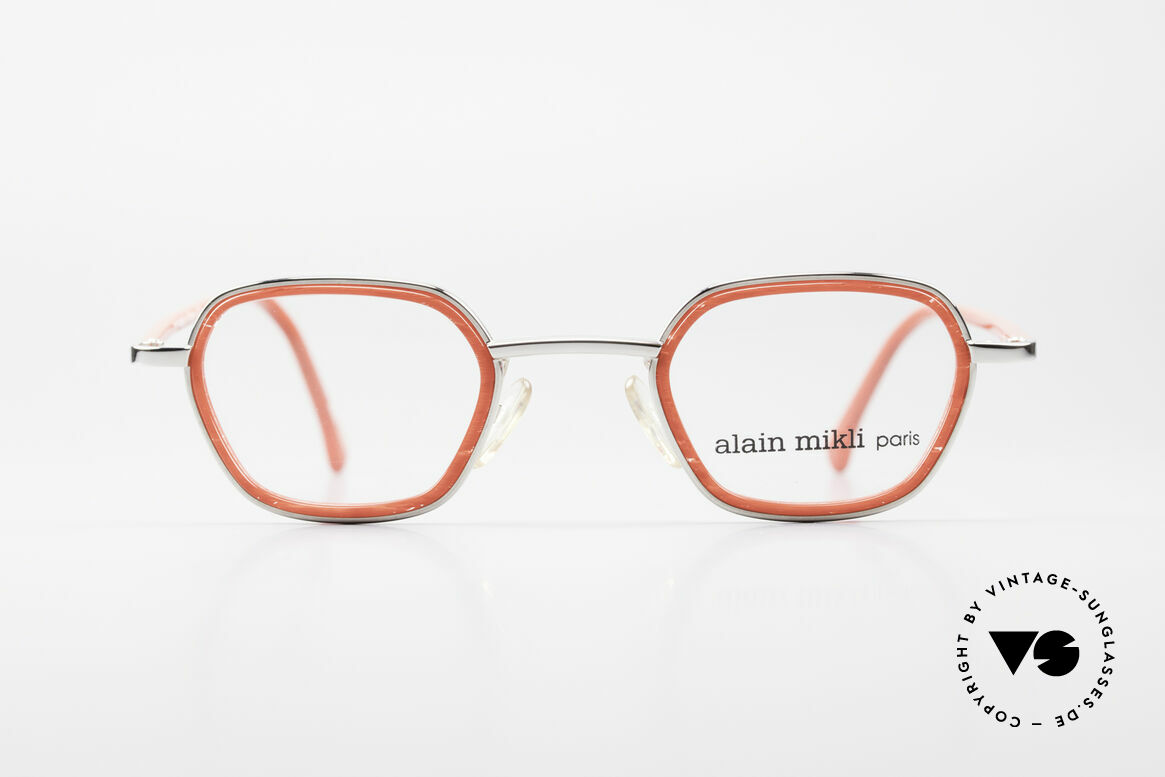 Alain Mikli 1642 / 1006 Vintage Eyeglasses Mikli Red, great combination of materials & color (MIKLI RED), Made for Women