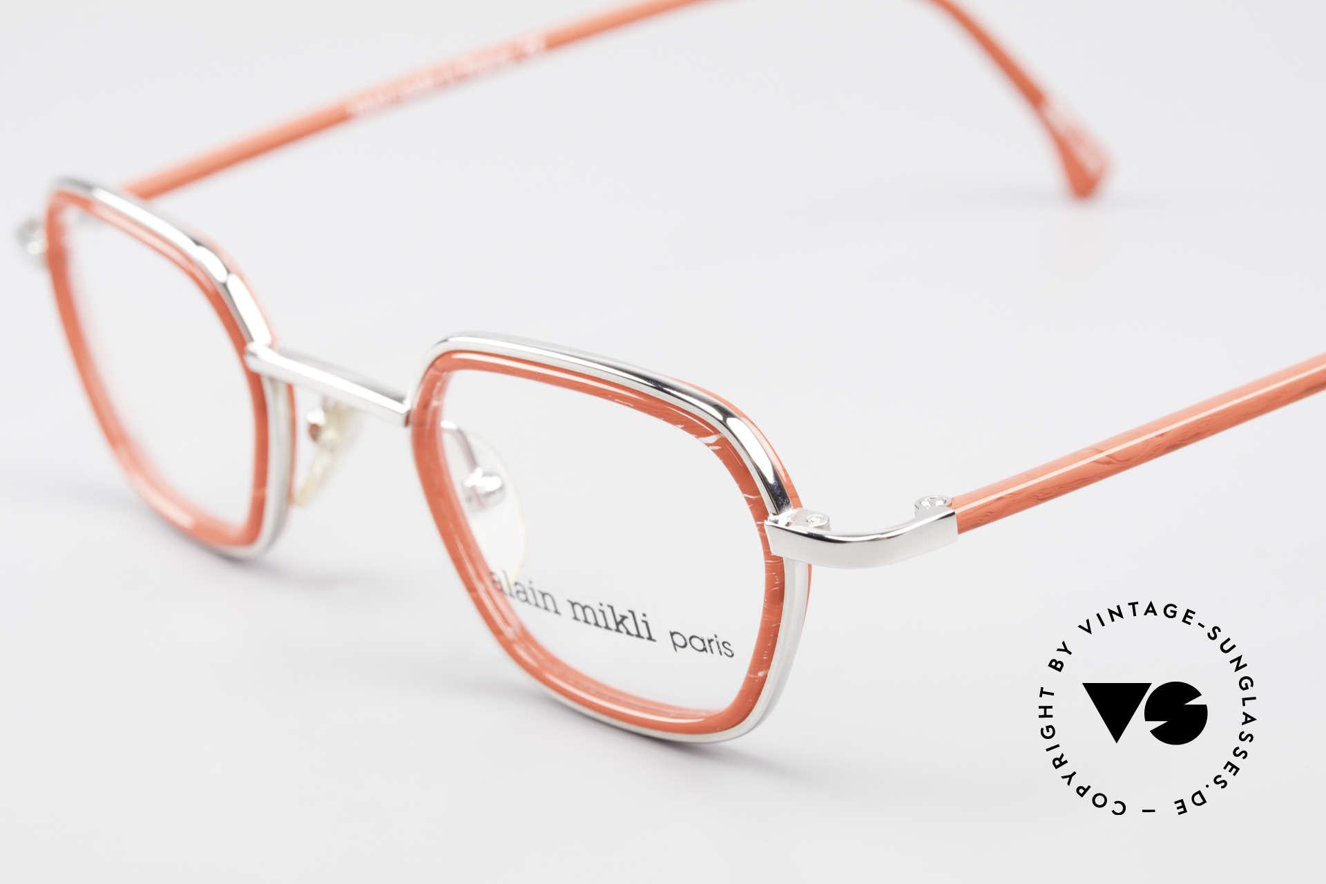 Alain Mikli 1642 / 1006 Vintage Eyeglasses Mikli Red, unworn NOS (like all our rare vintage Mikli frames), Made for Women