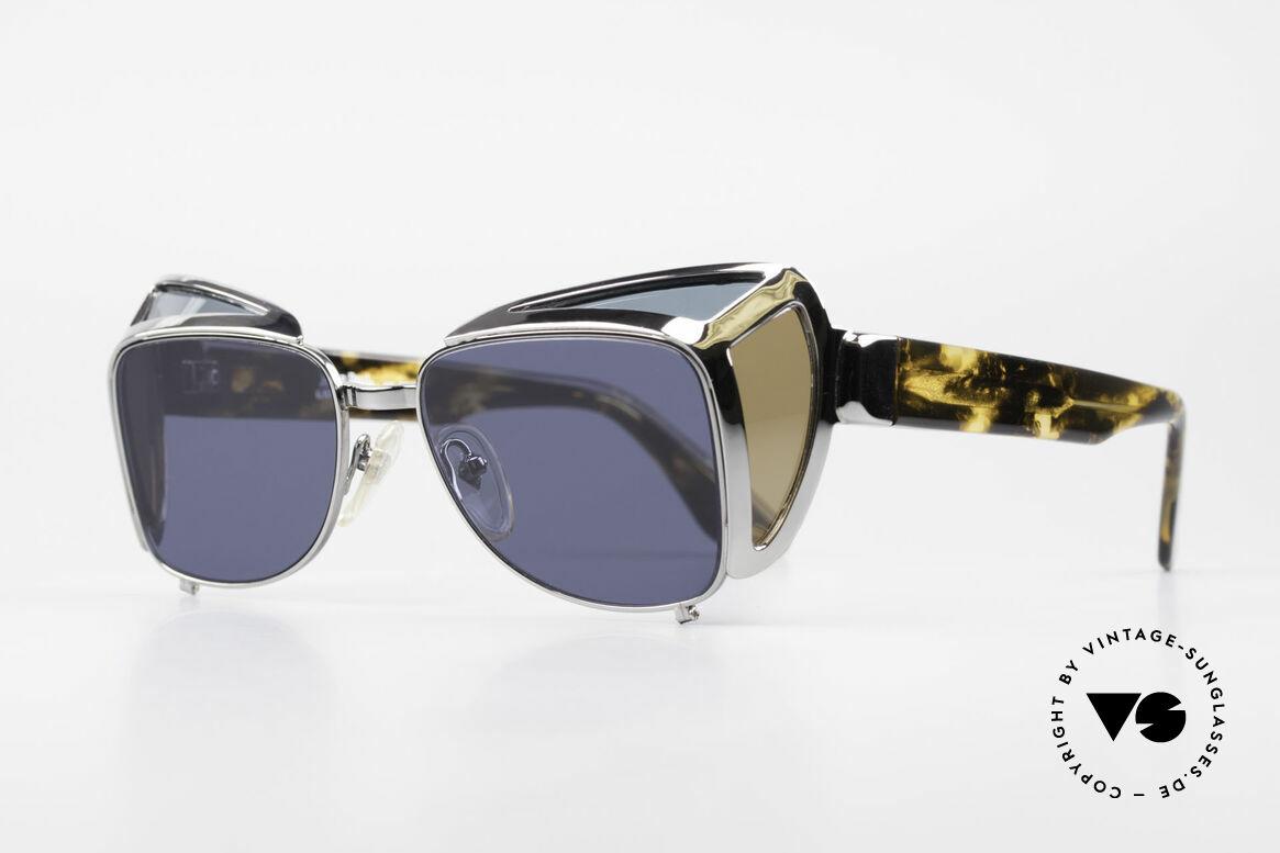 """Jean Paul Gaultier 56-9272 Rare Steampunk Sunglasses, often called as """"steampunk sunglasses"""", today, Made for Men"""