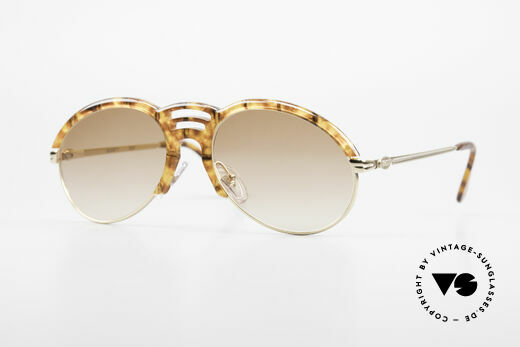 Bugatti 15287 Amber Optic Sunglasses 80's Details