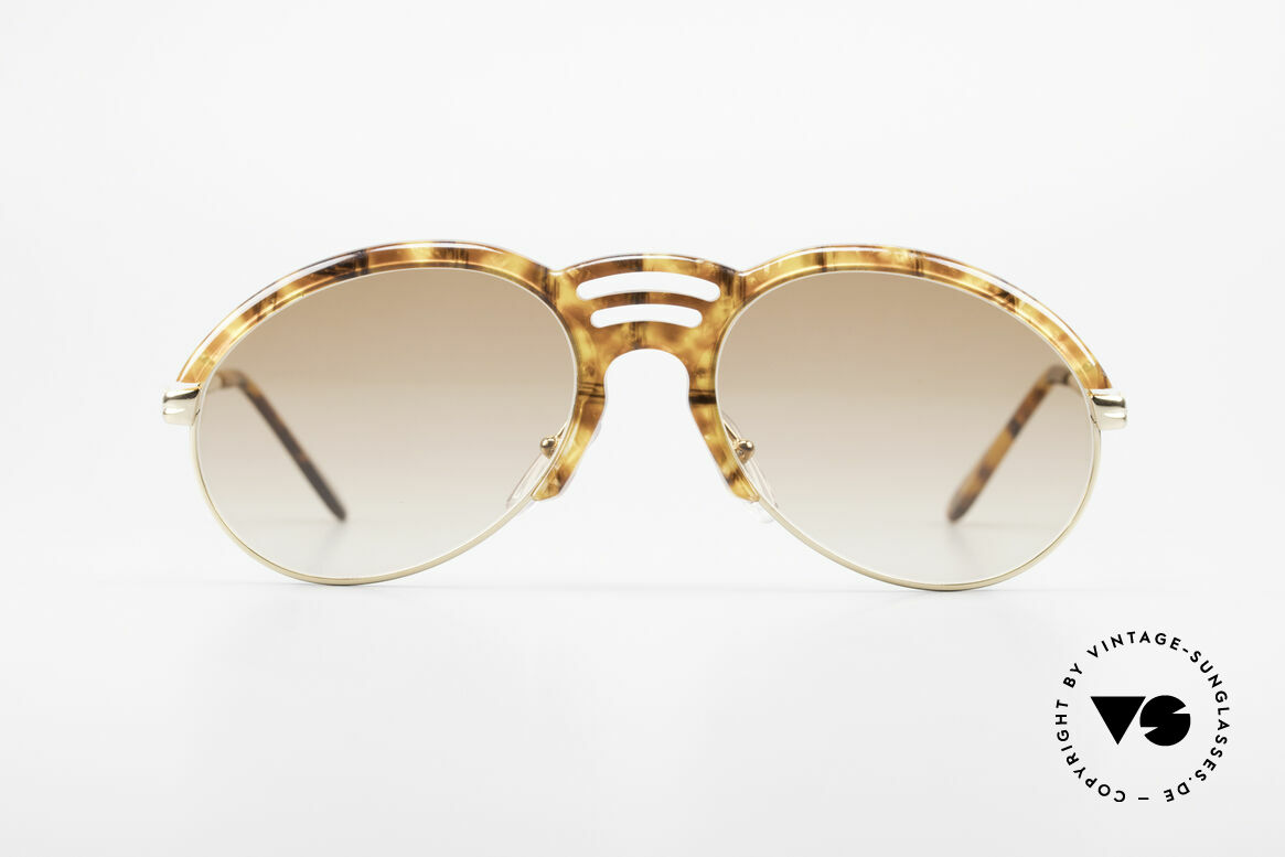 Bugatti 15287 Amber Optic Sunglasses 80's, typically 'tear drop' design by Bugatti for gentlemen, Made for Men