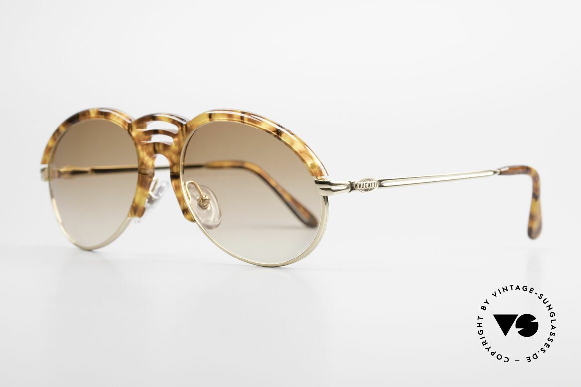 Bugatti 15287 Amber Optic Sunglasses 80's, great combination of materials & colors (amber/gold), Made for Men