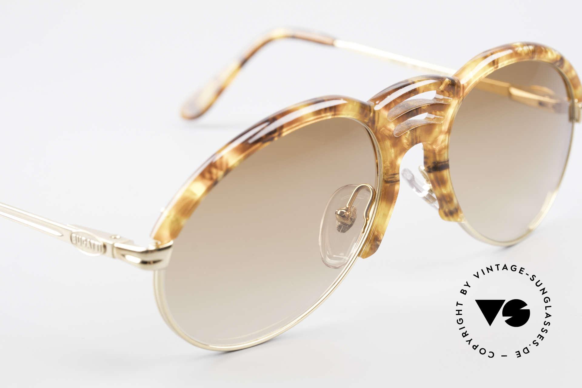 Bugatti 15287 Amber Optic Sunglasses 80's, unworn (like all our rare vintage Bugatti sunglasses), Made for Men