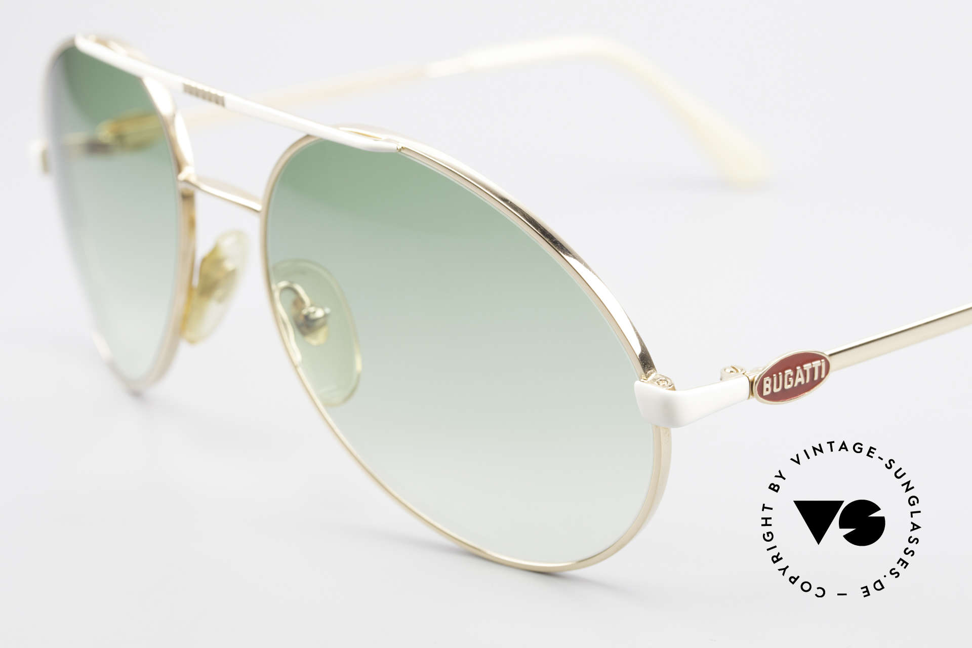 Bugatti 64319 Original 80's Sunglasses Men, rare luxury sunglasses in large size (140mm), Made for Men