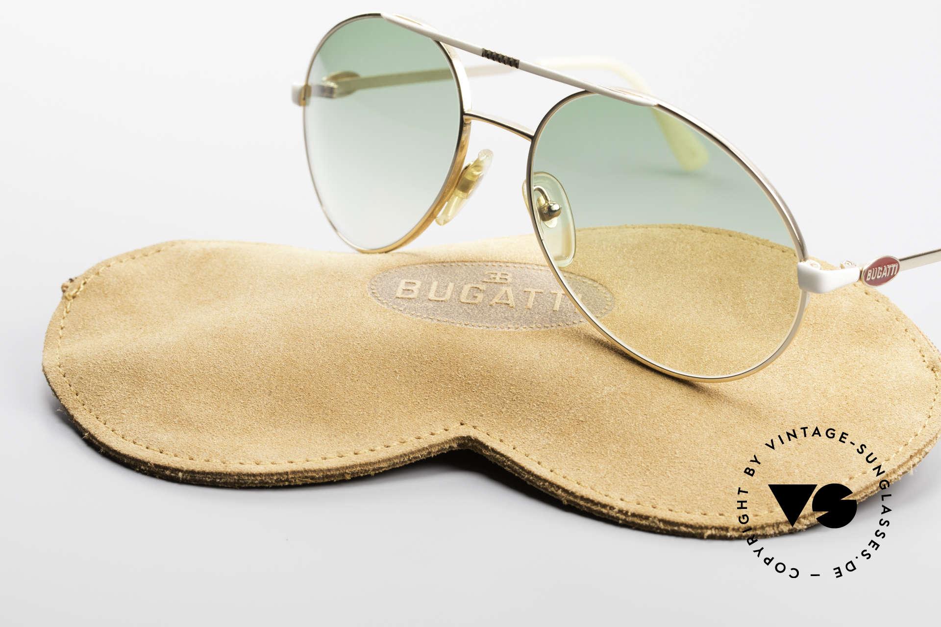 Bugatti 64319 Original 80's Sunglasses Men, green sun lenses can be replaced optionally, Made for Men