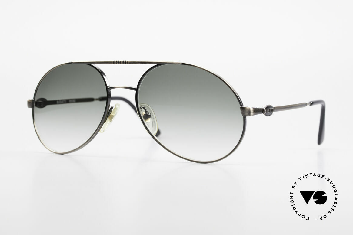 Bugatti 65282 Original 80's Shades No Retro, rare vintage Bugatti designer sunglasses from 1988, Made for Men