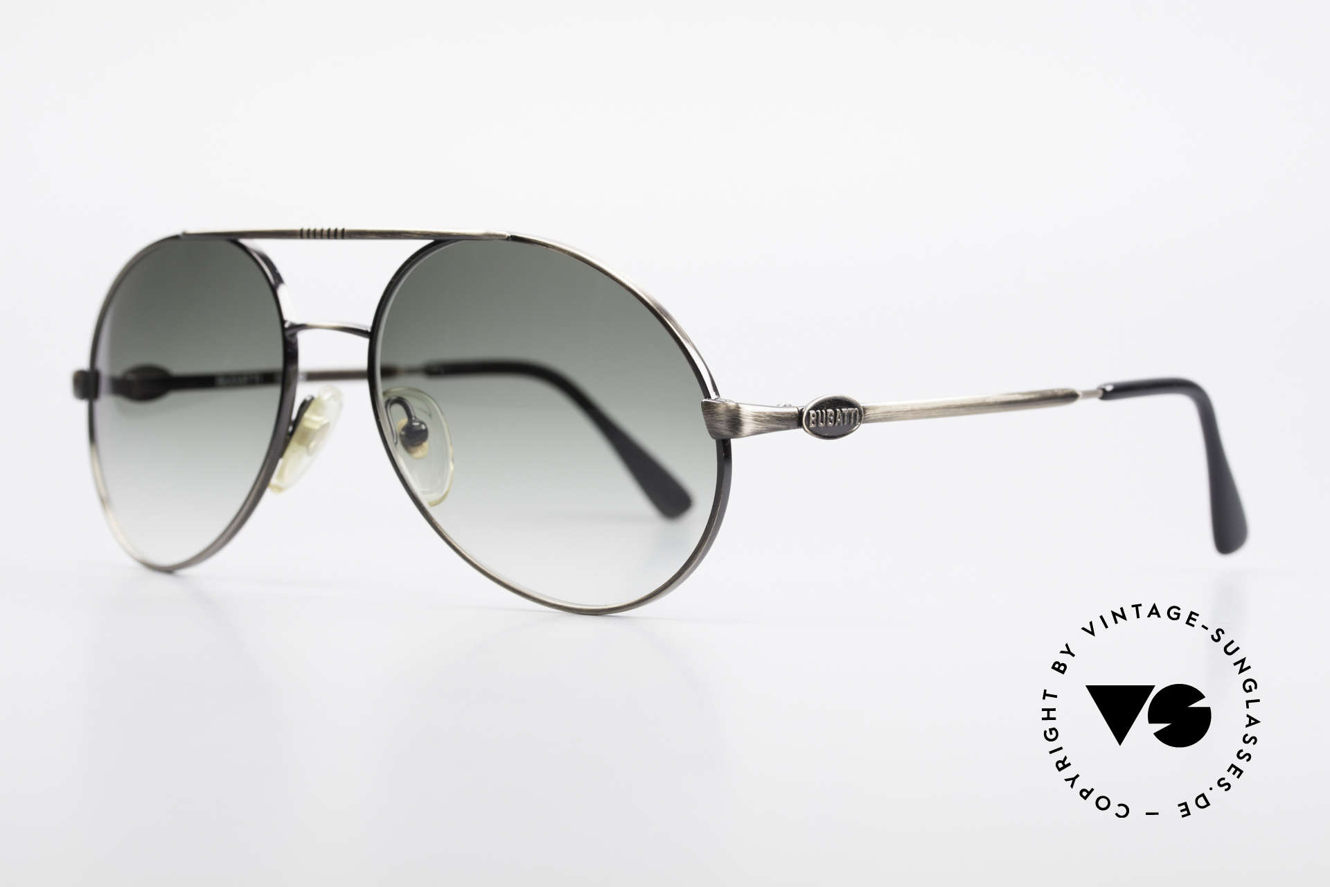 Bugatti 65282 Original 80's Shades No Retro, very noble lenses (green-gradient), 100% UV protect., Made for Men