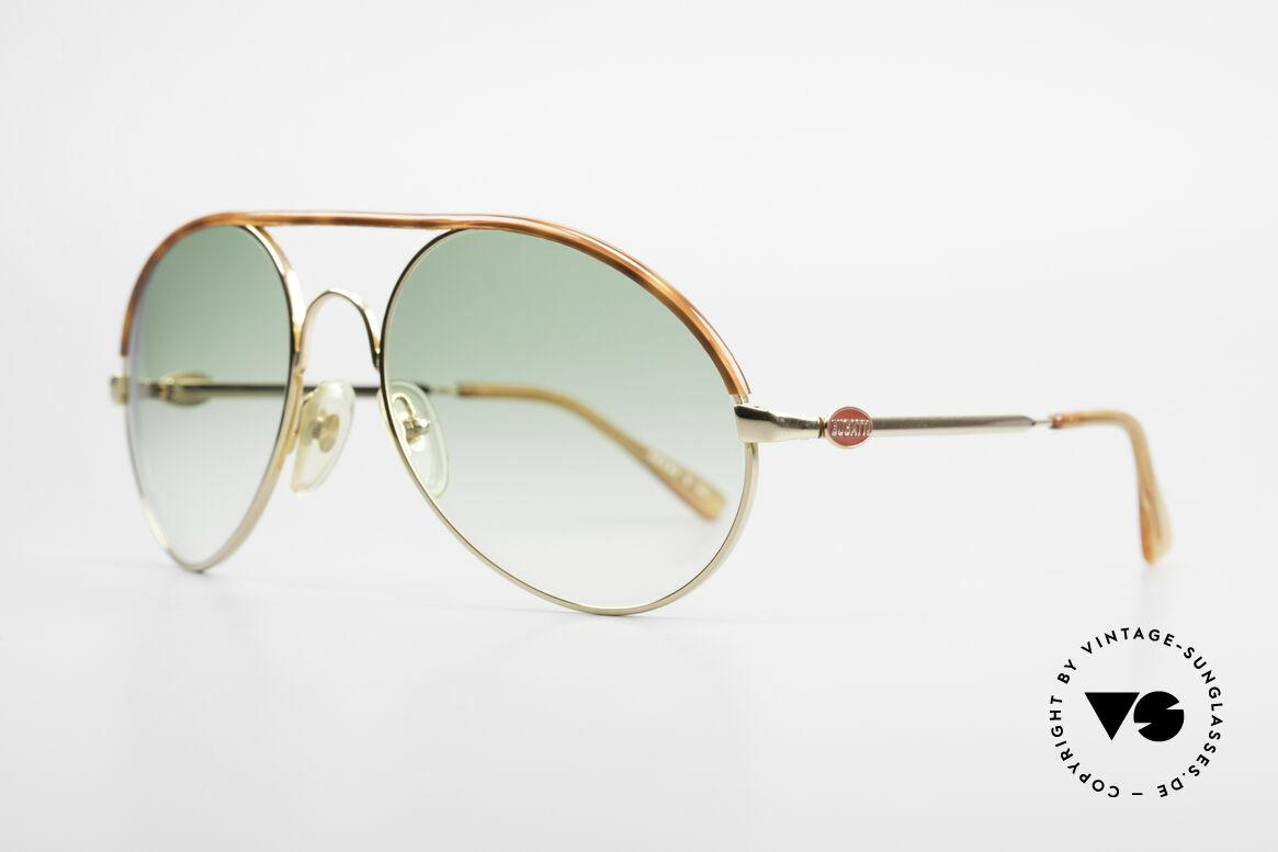 Bugatti 65986 Men's 80's XL Sunglasses, basic mod. 65986 refined with tortoise appliqué, Made for Men