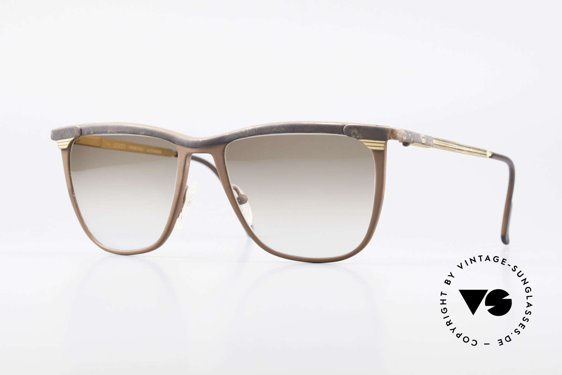 Gucci 2227 Luxury Designer Sunglasses, utterly elegant vintage 1980's sunglasses by Gucci, Made for Men and Women
