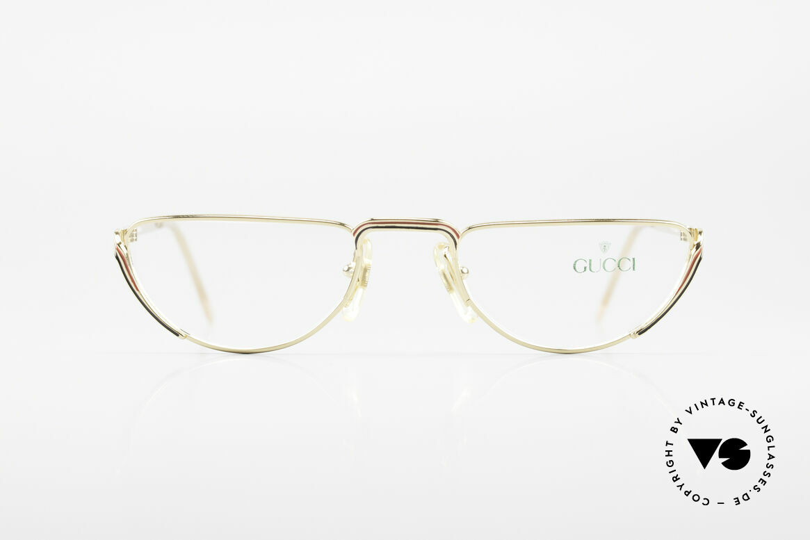 Gucci 2203 80's Vintage Reading Glasses, a true rarity in high-end quality (+ Gucci case), Made for Women
