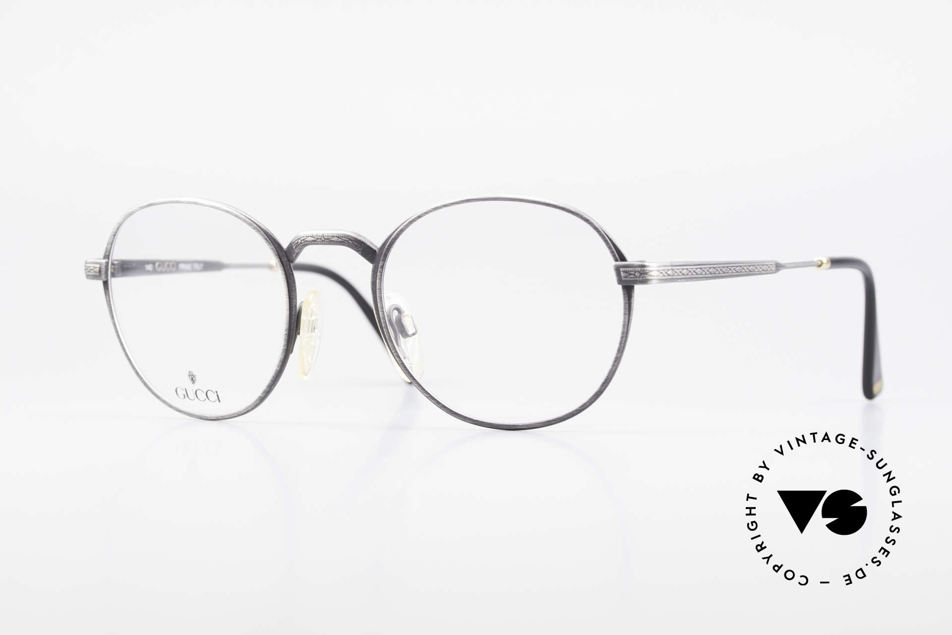 Gucci 1226 Classic 80's Panto Eyeglasses, classic vintage designer eyeglasses by GUCCI, Made for Men and Women