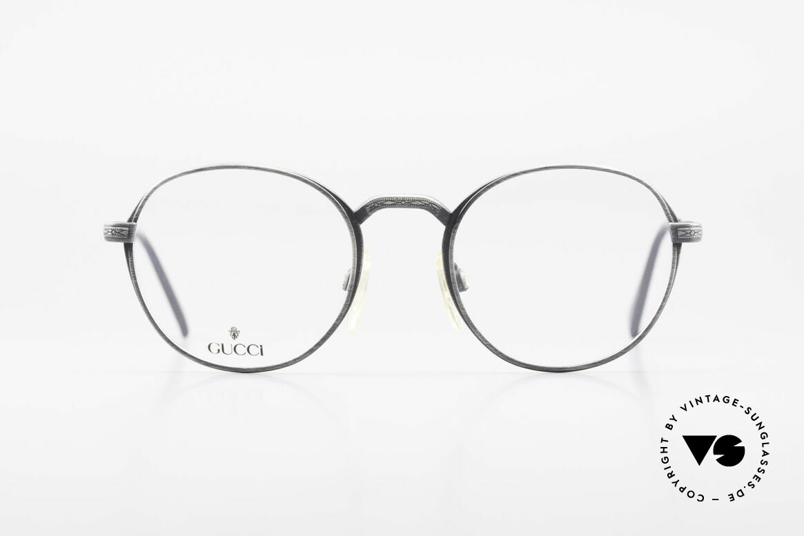 Gucci 1226 Classic 80's Panto Eyeglasses, 80's rarity in premium quality (Panto Design), Made for Men and Women