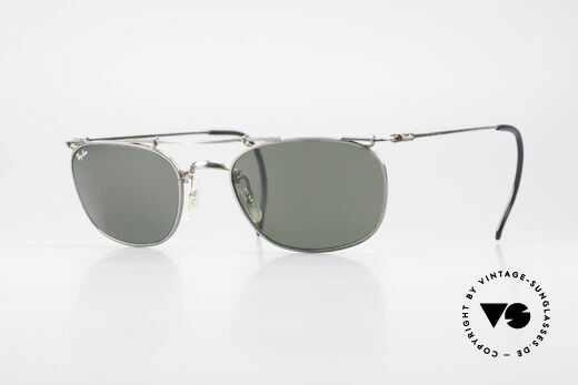 Ray Ban Deco Metals Square Old B&L USA 90's Sunglasses Details