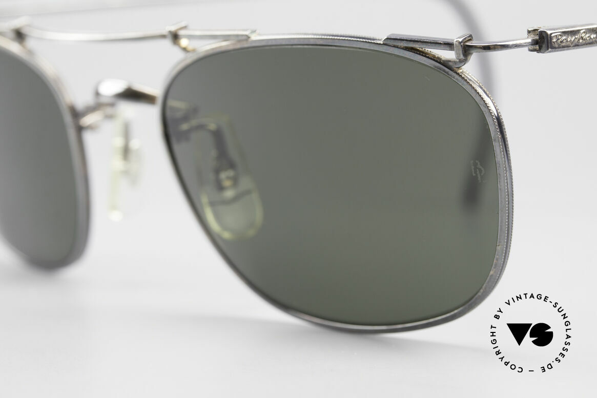 Ray Ban Deco Metals Carre Old B&L USA 90's Sunglasses, unworn (like all our vintage sunglasses by Ray Ban), Made for Men and Women