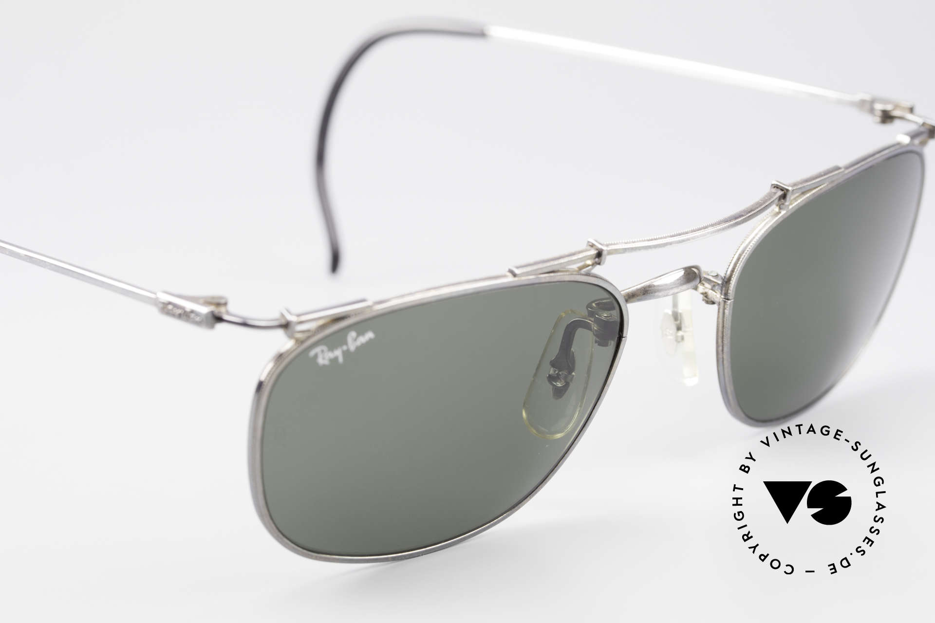 """Ray Ban Deco Metals Carre Old B&L USA 90's Sunglasses, rare antique metal edition (frame finish looks """"old""""), Made for Men and Women"""