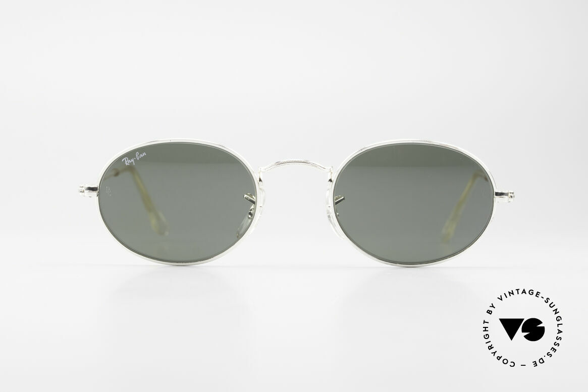 Ray Ban Classic Style I Old Oval B&L USA Sunglasses, oval vintage sunglasses with G15 mineral lenses, Made for Men and Women