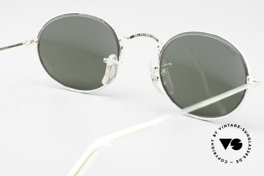 Ray Ban Classic Style I Old Oval B&L USA Sunglasses, original B&L name: W2104, silver, G-15, 49mm, Made for Men and Women