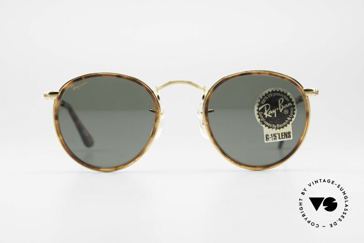 Ray Ban Round Metal 47 Small Round Shades Havana, a timeless classic in high-end quality; made in USA, Made for Men and Women