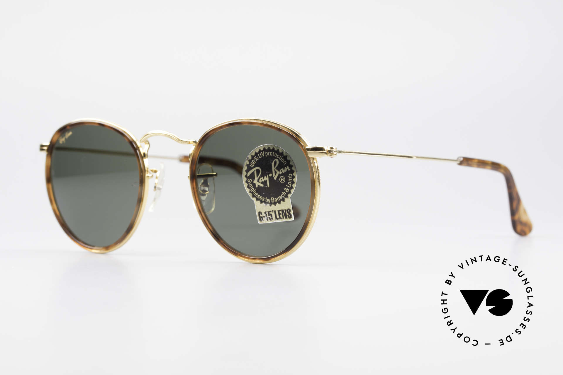 """Ray Ban Round Metal 47 Small Round Shades Havana, limited special edition with """"tortoise-brown"""" insert, Made for Men and Women"""