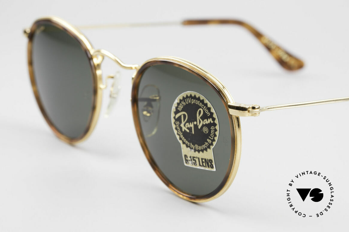 Ray Ban Round Metal 47 Small Round Shades Havana, unworn Bausch&Lomb sunglasses + original packing, Made for Men and Women